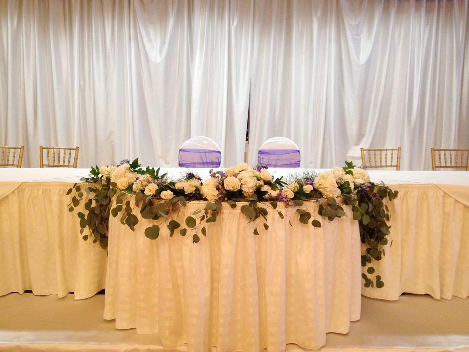 Wedding Head Table Flowers Classic Amp Simple In