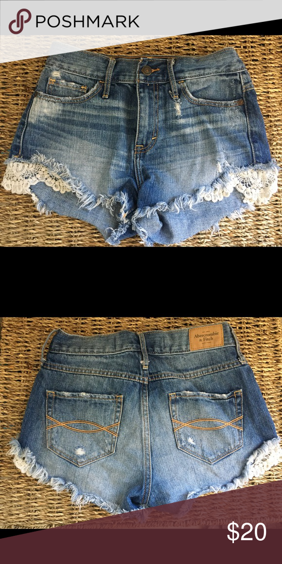 Women's size 24 shorts Cute shorts! Great condition. Abercrombie & Fitch Shorts Jean Shorts