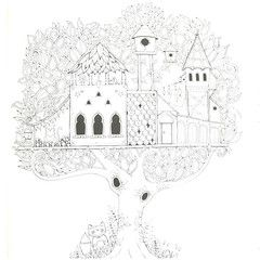 Enchanted Forest Coloring Book By Johanna Basford Big Tree House