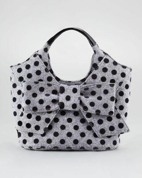 Women Wallet Purse Polka Dots Patchwork Black White Clutch Bag Leather