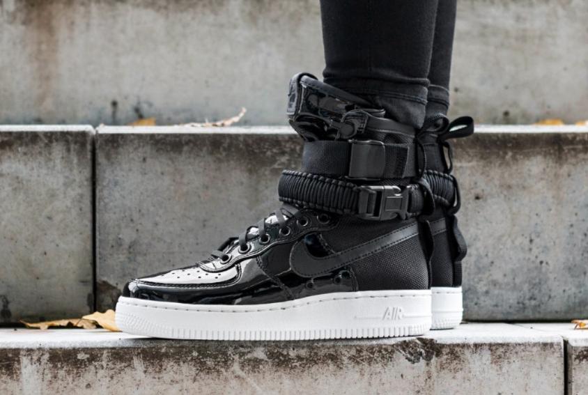 Nike SF-AF1 High Black Patent The Force