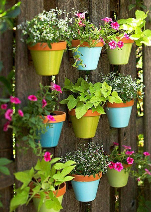 50 Ideen Für DIY Gartendeko Und Kreative Gartengestaltung Mit Bunten  Blumentöpfen