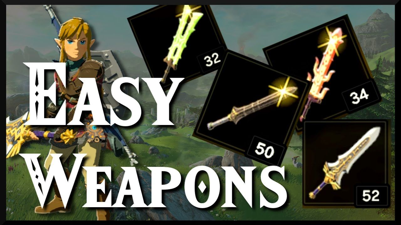 Zelda Breath Of The Wild Easy Weapon Locations Die Legende Von