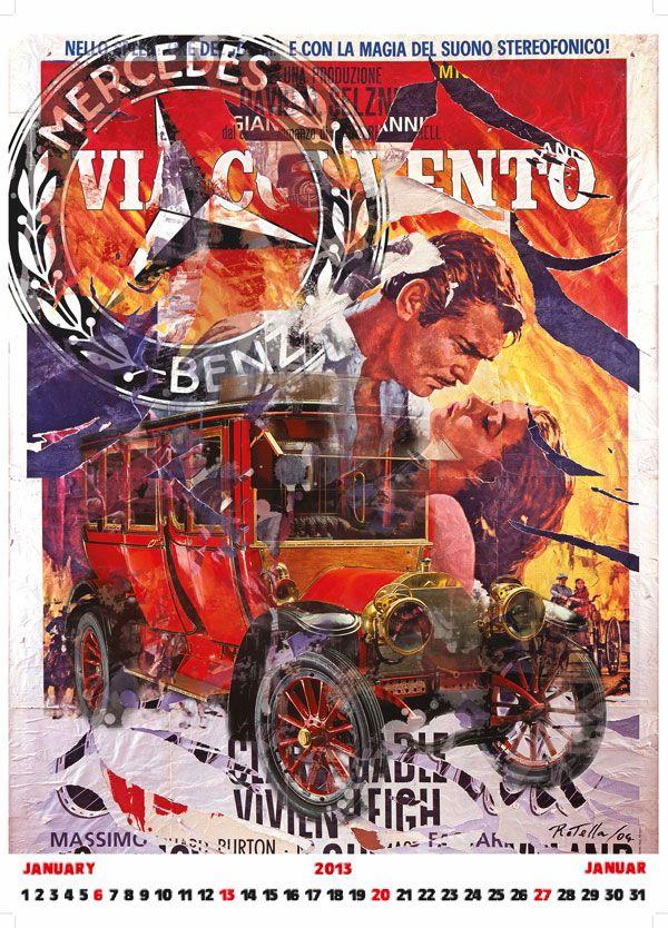 009 Vintage Advertising Transport Poster Art  Mercedes-Benz