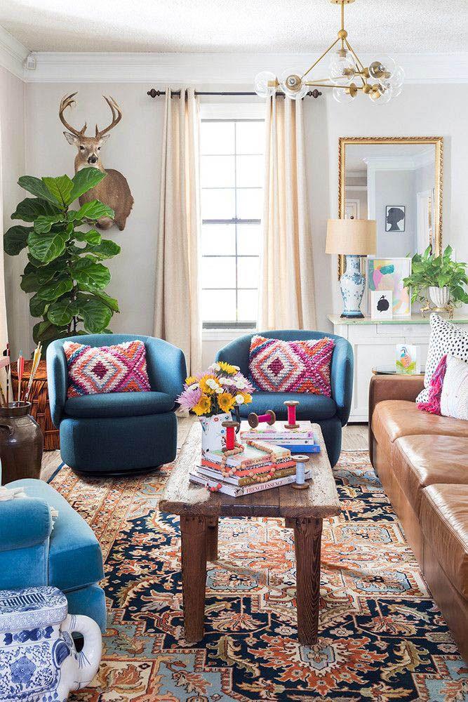 Motivating Bohemian Decorating Ideas For Living Room Eclectic Living Room Colourful Living Room Living Decor