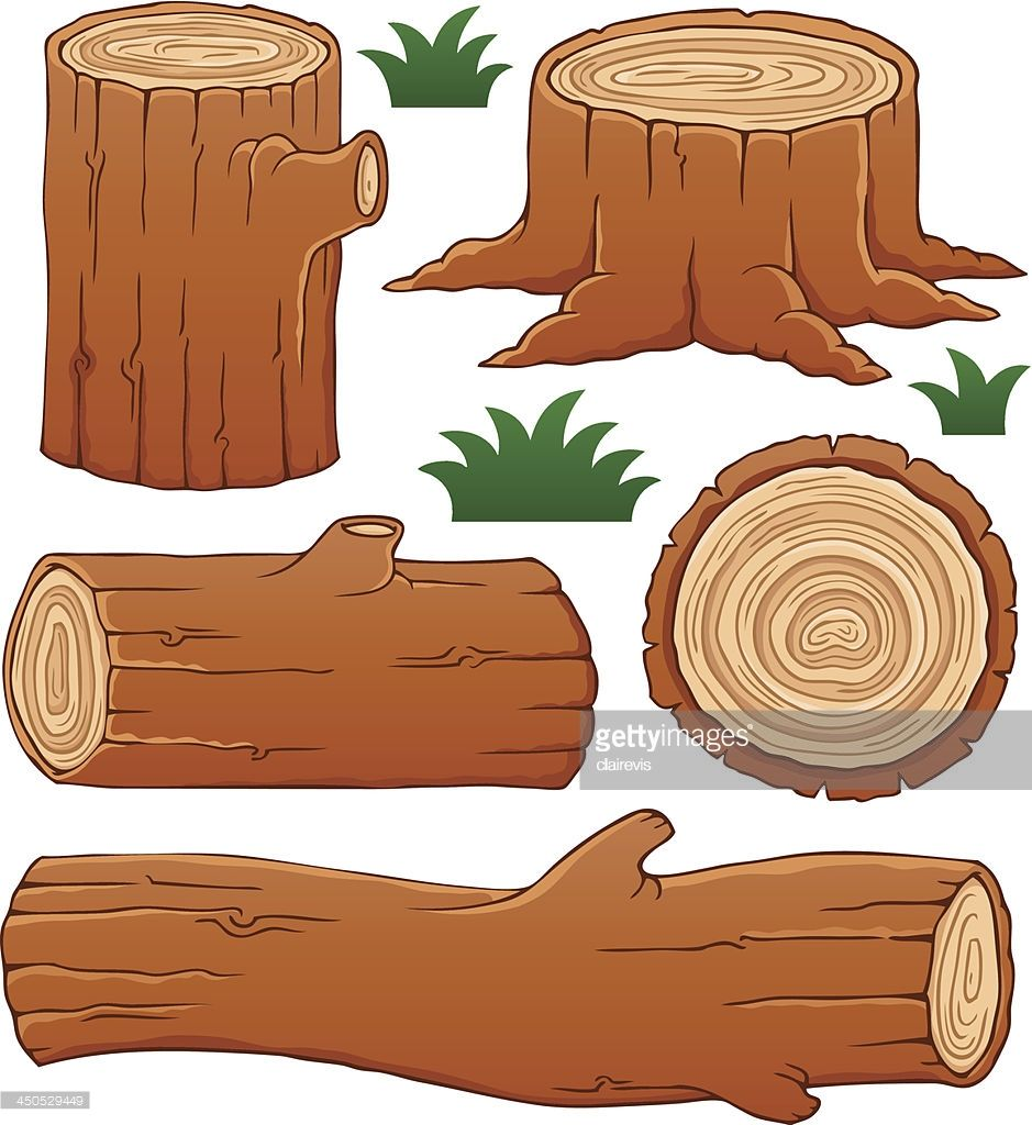 Log Theme Collection 1 Vector Illustration Illyustracii Kartinki Sensornye Korobki Cartoon squirrel standing while hol. pinterest