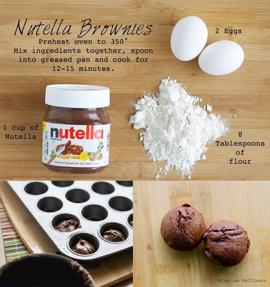 Nutella Topped Brownies Easy Nutella Brownies Food Pinterest Easy Nutella Brownies
