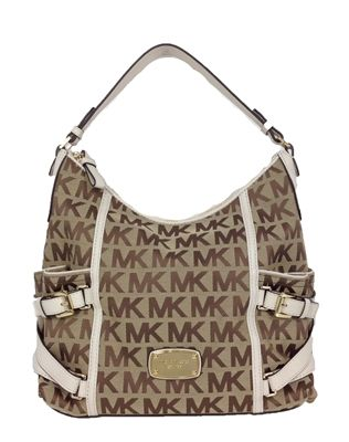 3a5152bc5f Michael Kors Gansevoort Jacquard Large Top Zip Shoulder Bag