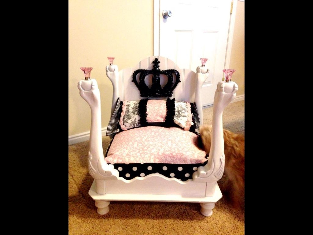 Graces dog bed that i made out of an old end table for Make your own bedside table