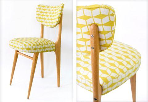 chaises de salle a manger vintage Stólar Pinterest Lounge