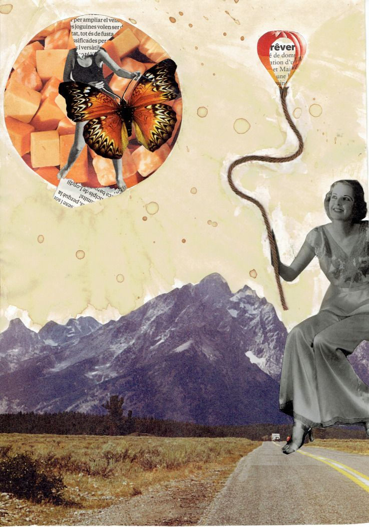 #collageart #collage #cutandpaste #vintage #baloon #butterfly #surrealart #surreal analogcollage #lyraneltio