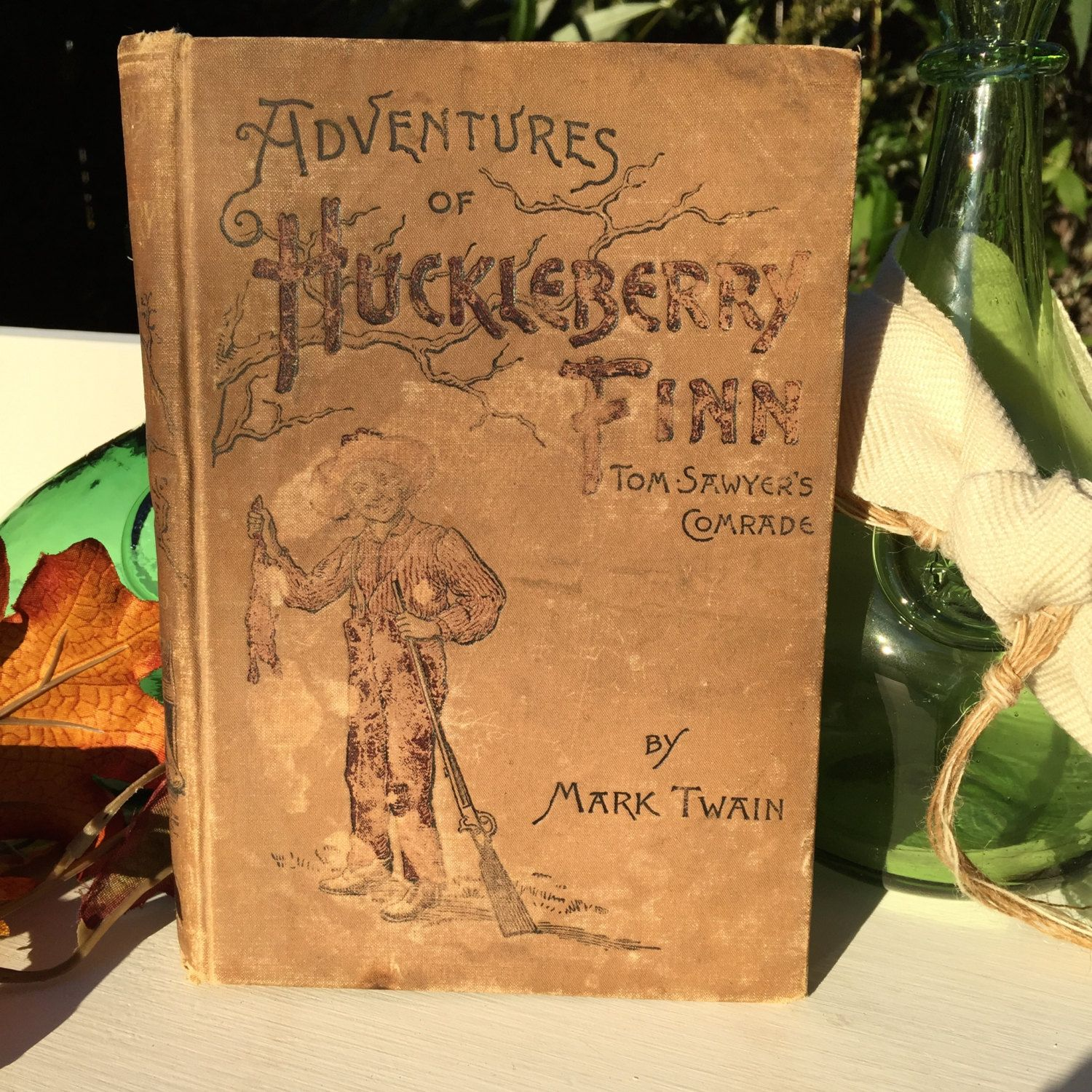 Vintage The Adventures Of Huckleberry Finn Book, Rare Collectors, Home