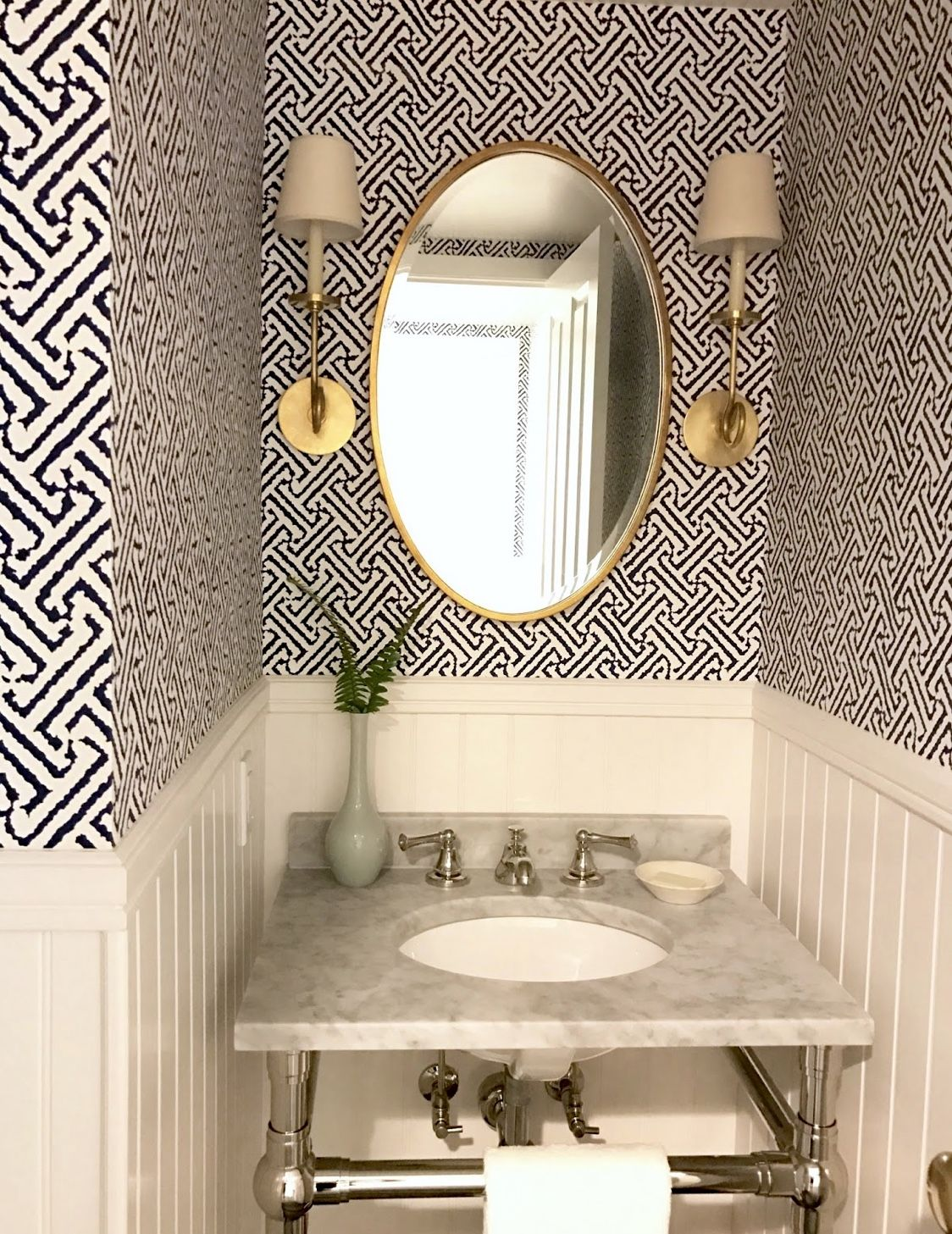 That wallpaper in 2020 (With images) Powder room decor