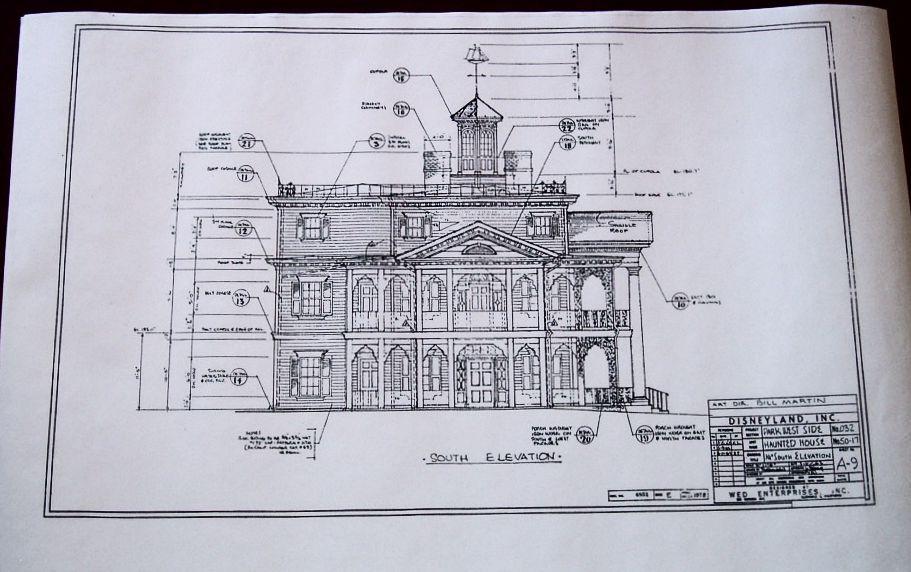 haunted mansion theme park blueprints   the haunted mansion - disney