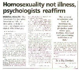 Diagnostic and statistical manual of mental disorders homosexuality