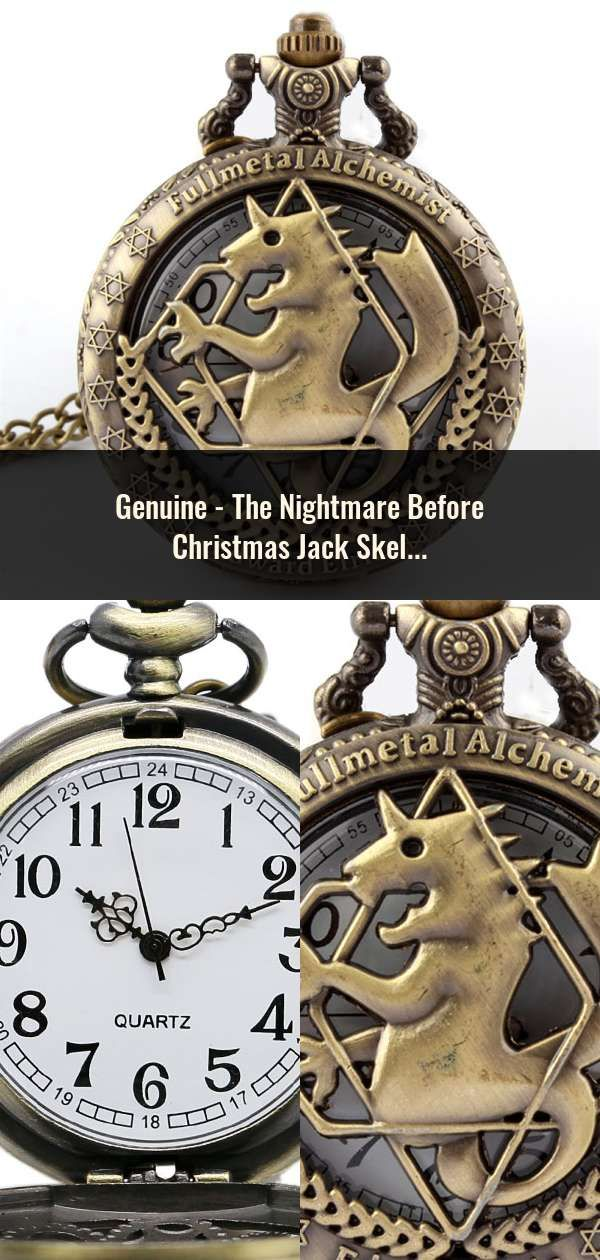 2ea363ba1 The Nightmare Before Christmas Jack Skellington Tim Burton Movie Kid Toys  Watches Fashion Black Quarzt Pocket Watch Gifts Item