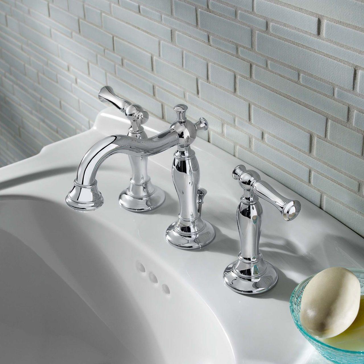 Bathroom Sink Faucets Quentin 2 Handle 8 Inch Widespread