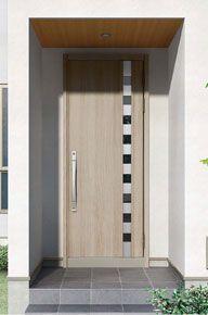 Lixil 玄関まわり グランデル 施工イメージ 16型グレイッシュオーク 画像あり 玄関ドア リクシル 玄関ドア 玄関
