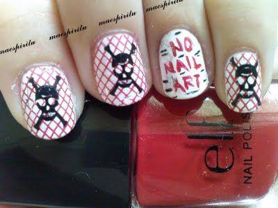 No nail art!