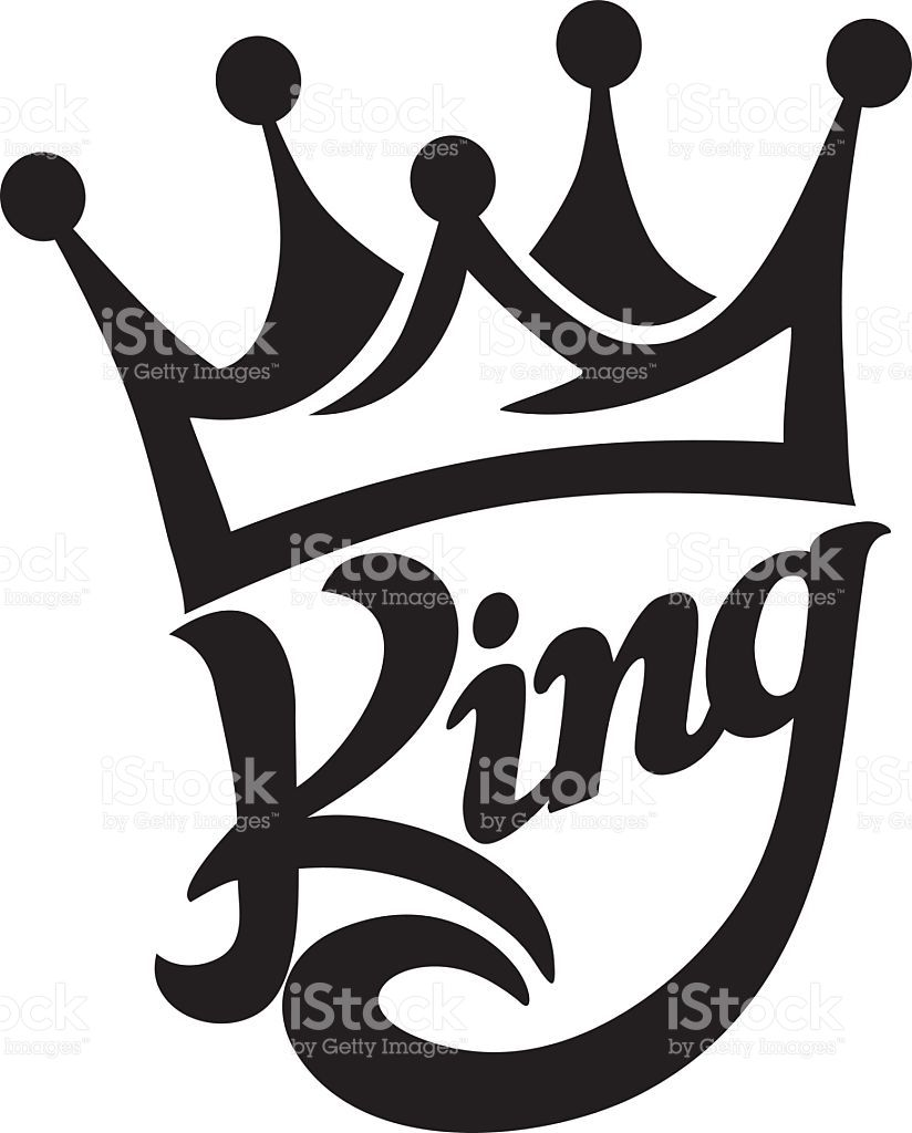 King Lettering : lettering, Crown, Typography, Royalty-free, Stock, Vector, Drawing,, Tattoo, Design