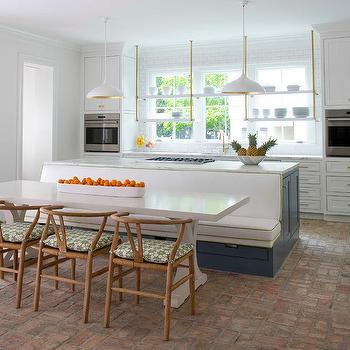 Kitchen Island Dining Banquette Design Ideas