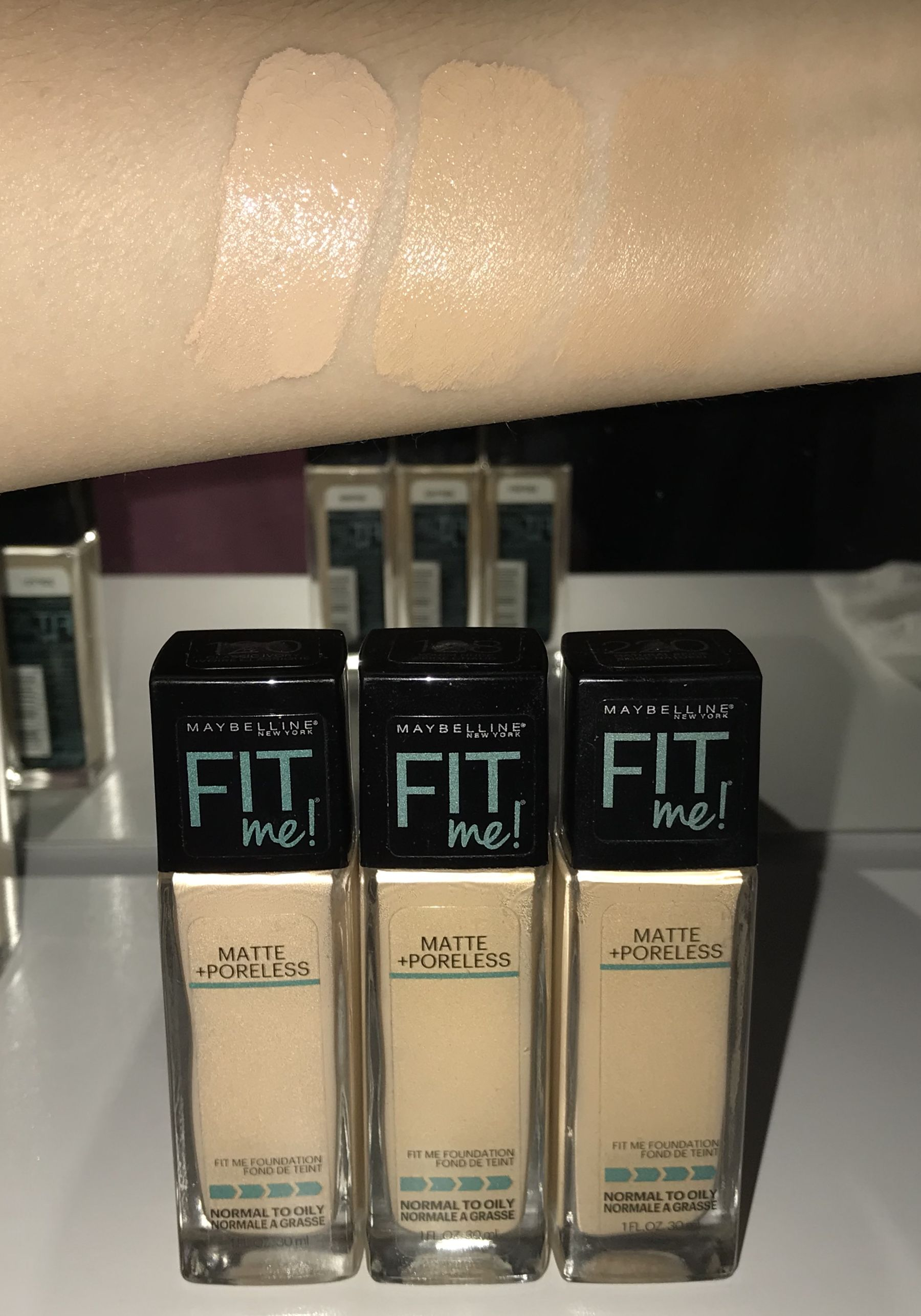 Maybelline Fit Me Matte And Poreless Foundation Shades L R 120 Classic Ivory 128 Warm N Skin Tone Makeup Beauty Products Drugstore Fit Me Matte And Poreless