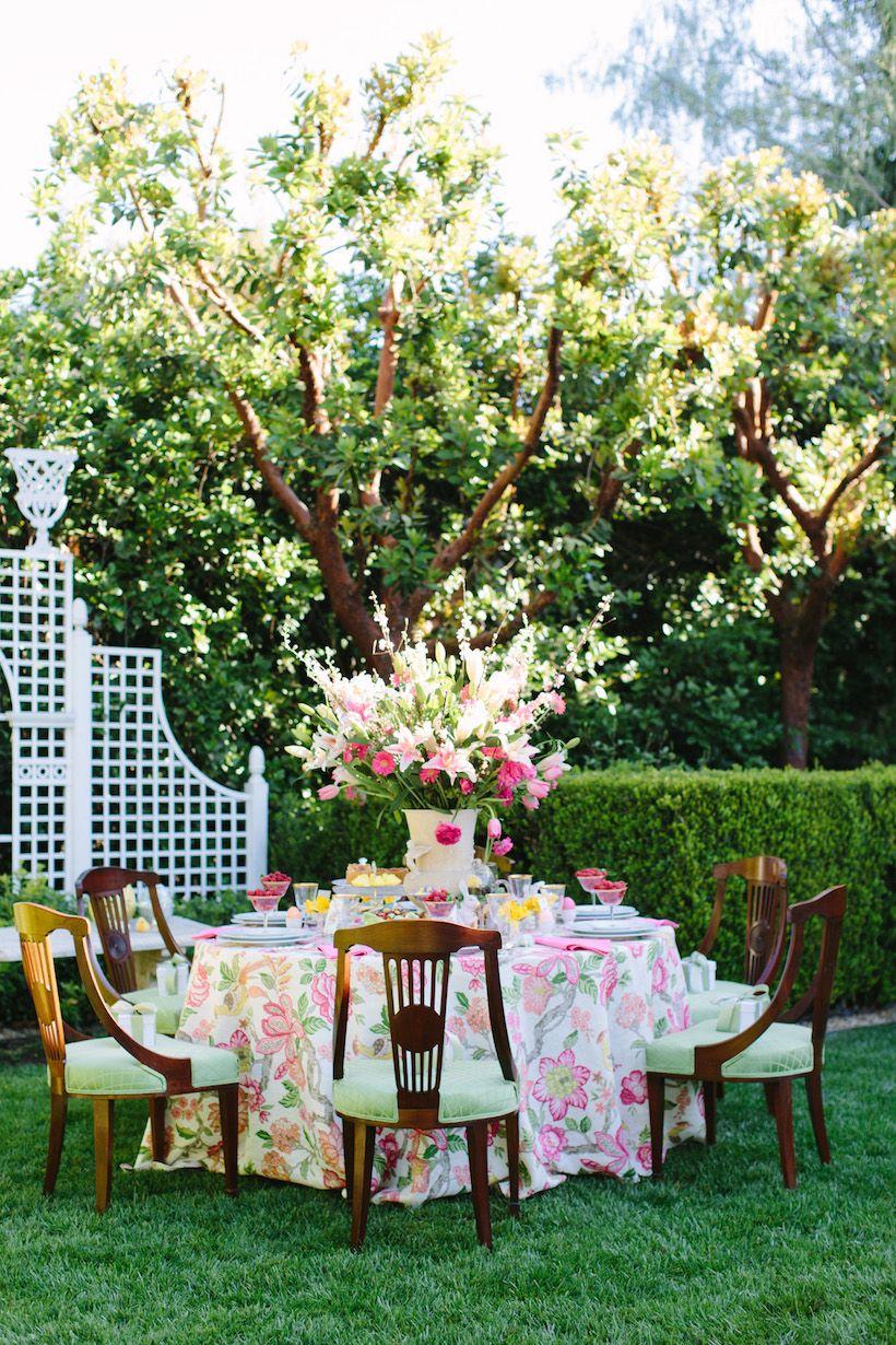 Elegant outdoor Easter brunch
