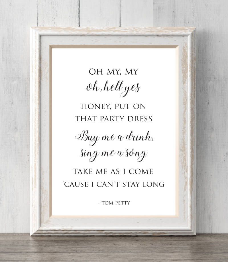 Tom petty oh my my hell yes print mary janes last dance put tom petty oh my my hell yes print mary janes last dance stopboris Choice Image