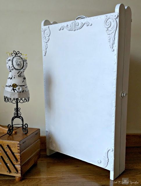 Redoing A Vintage Sewing Cabinet | Redo It Yourself - Featured at the Home Matters Linky Party 122