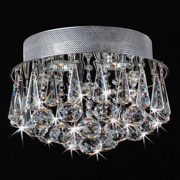 This Flush Mount Crystal Chandelier Makes A Stunning Addition To Any Decor With An Iron Base Chrome Finish And Five Light Design Elegant