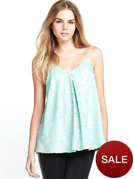 e50ab11b571 Love Label Sequin Swing Cami Top on shopstyle.co.uk | camisole ...
