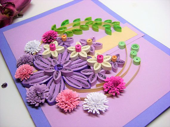 Original greeting cardhandmade paper quilled thank you card original greeting cardhandmade paper quilled thank you cardfiligrana flowers paper cardbeautiful birthday ideasquilling paper card m4hsunfo