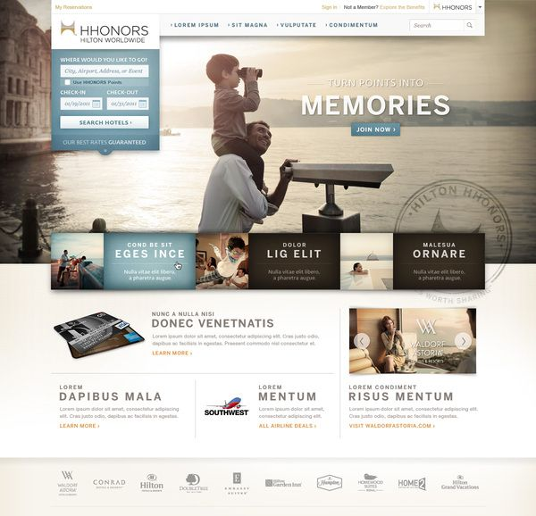 HHonors Hilton (Proposed Design) by Jessie White, via Behance
