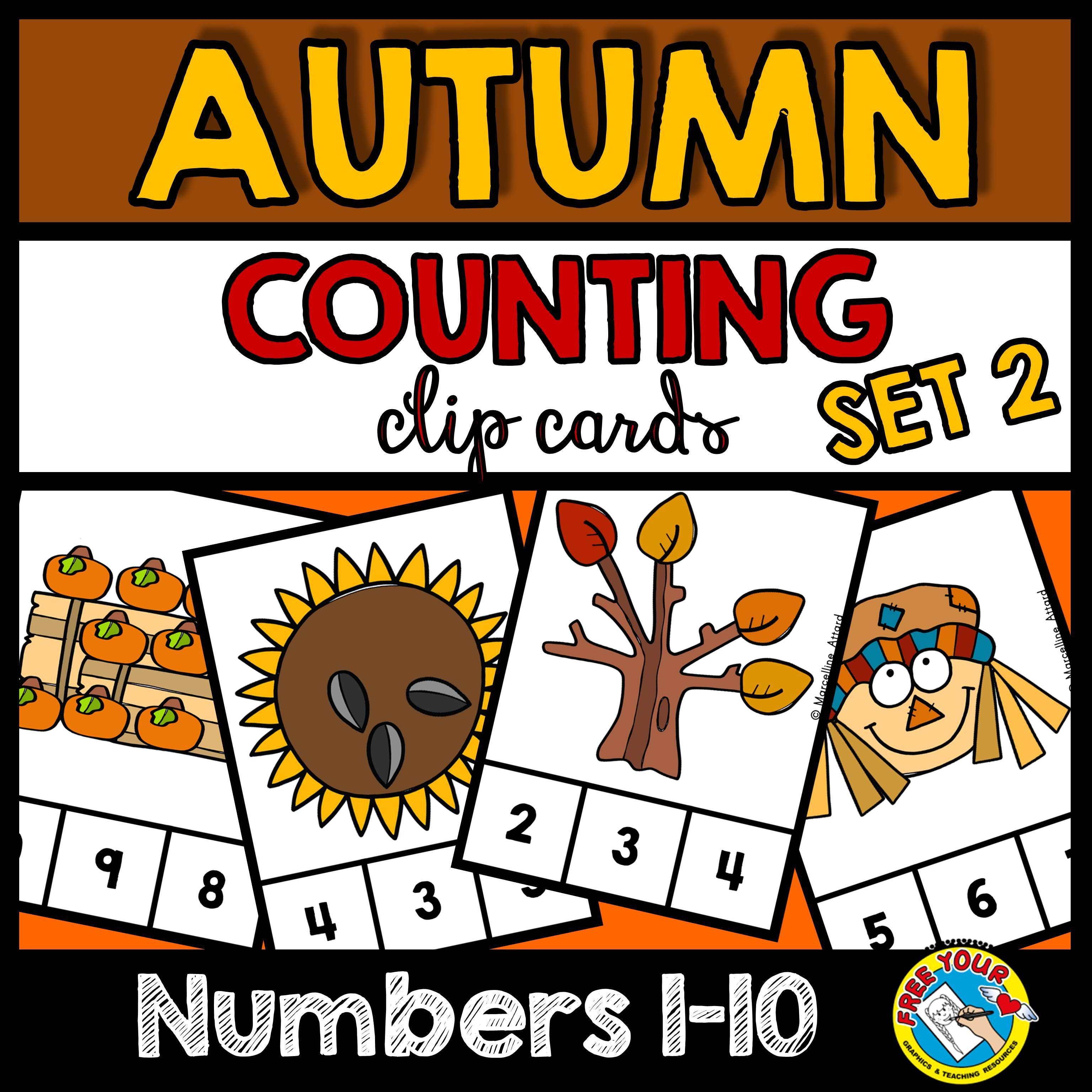 Fall Activities Kindergarten Numbers 1 10 Autumn Counting