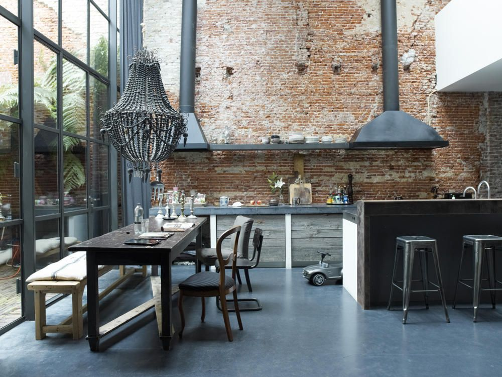 essbereich im industrie chic industrie chic industrie. Black Bedroom Furniture Sets. Home Design Ideas