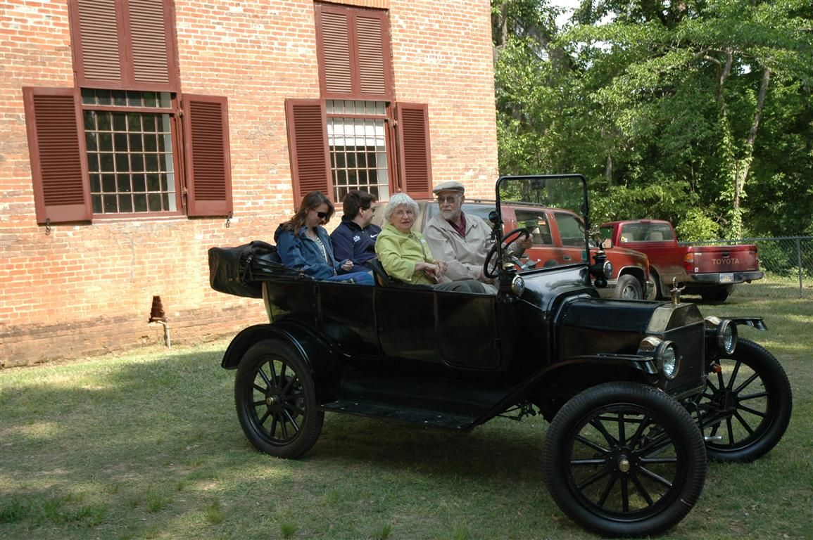 Friends brought antique car to Homecoming at Rocky Springs Church