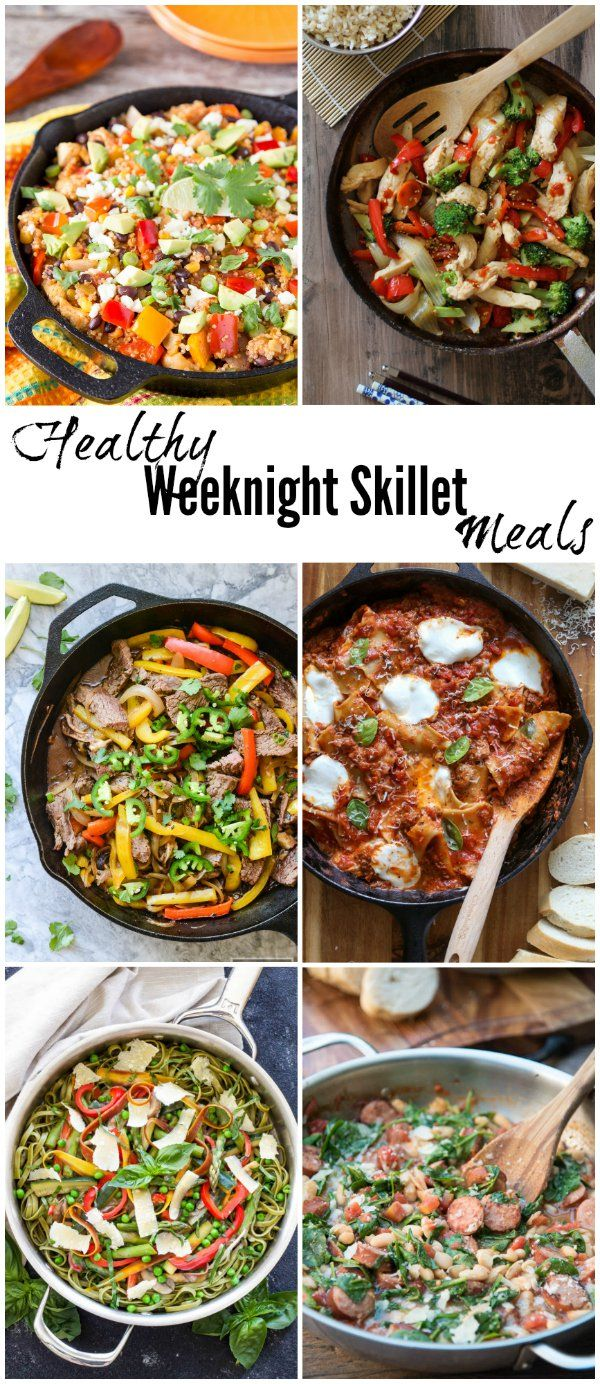 25 Healthy Weeknight Skillet Meals #healthyweeknightmeals