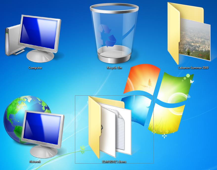 Changing Windows 7 Desktop Icons Size Desktop icons