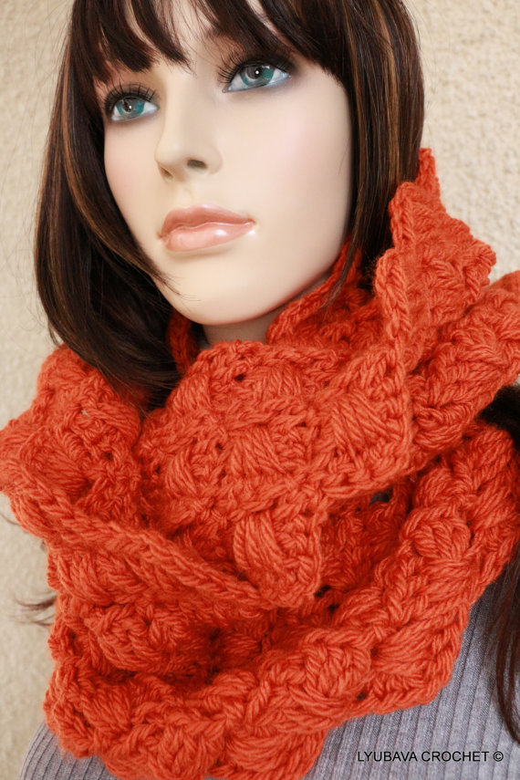 Crochet Scarf PATTERN, Chunky Scarf Pattern, Autumn Scarf, Infinity ...