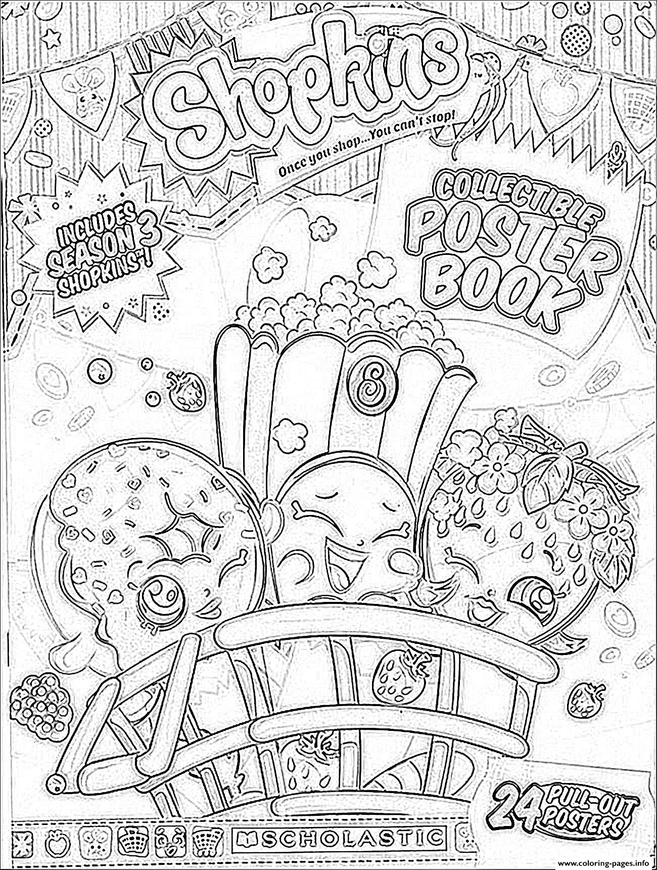 Print Shopkins Season 3 Book Coloring Pages