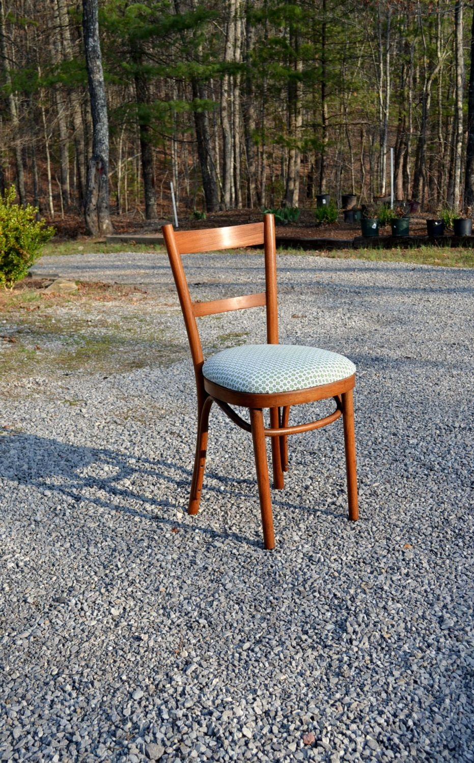 Vintage bentwood chair upholstered seat desk dining chair thonet