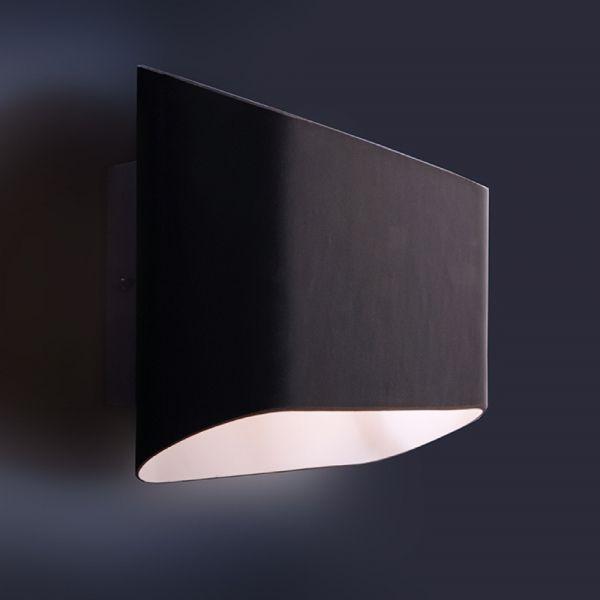 Click Licht formschöne wandaufbauleuchte amly aus glas in schwarz deko light
