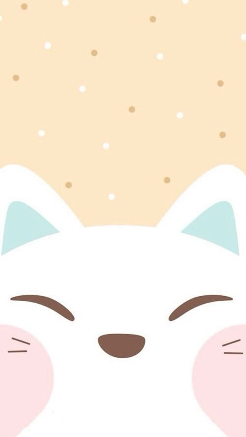 Cute Cat Face Iphone Wallpaper Cat Wallpaper Iphone Cute Kawaii Wallpaper