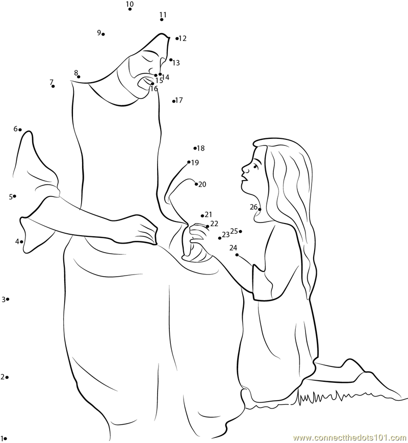 picture relating to Jesus Dot to Dot Printable known as Down load or print Jesus Christ Cares dot towards dot printable