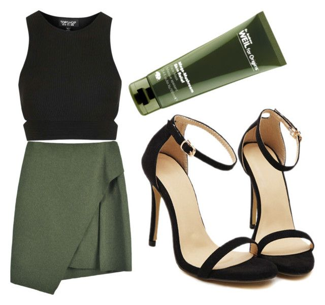 """night out"" by schumacherriley on Polyvore featuring Topshop and Origins"
