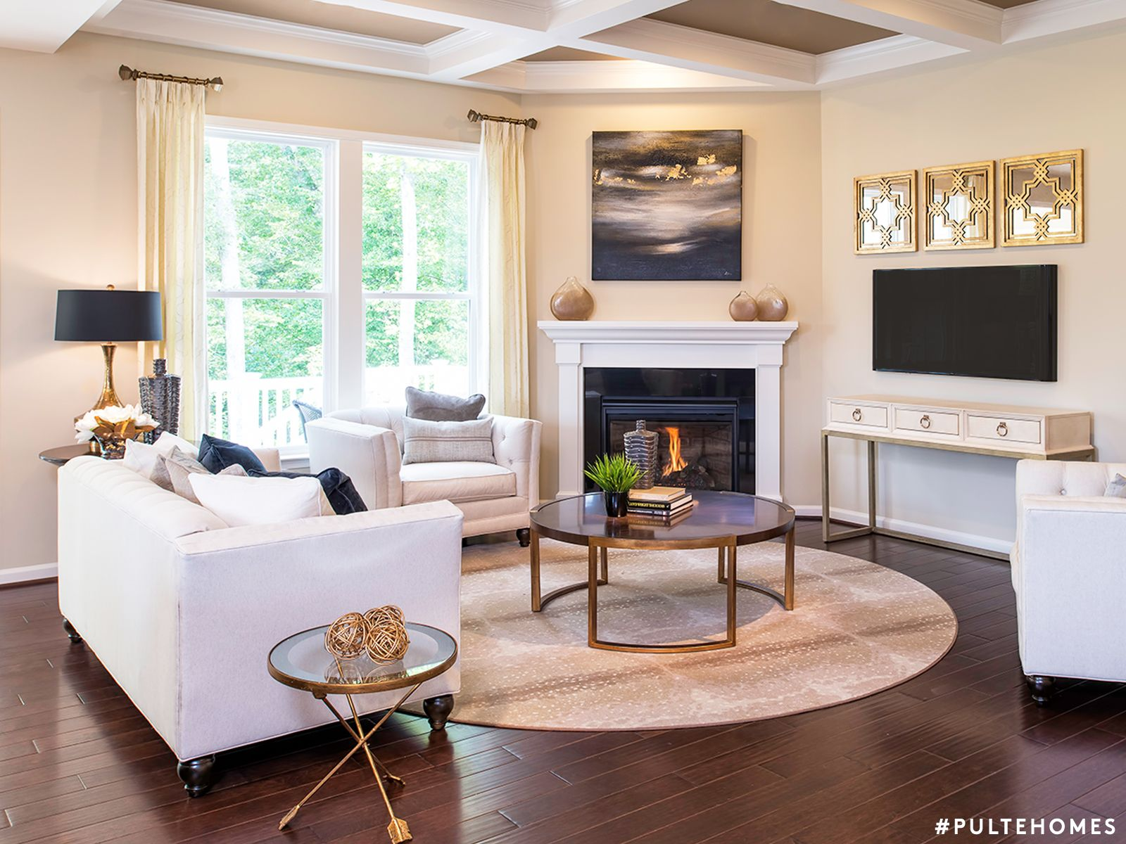 A room with style to go around a circular table paired