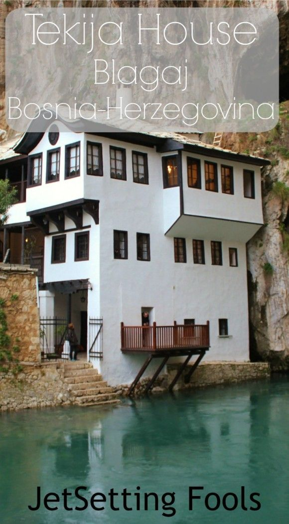 We were positively stoked when our Airbnb host, Tarik, said he wanted to take us to the nearby town of Blagaj to visit the Tekija House. The historic Turkish Dervishes monastery, built in 1520, sits at the base of Hum Mountain. Sheer cliffs rise high above the house and, next to it, the Buna River begins its flow from a spring inside a cave.