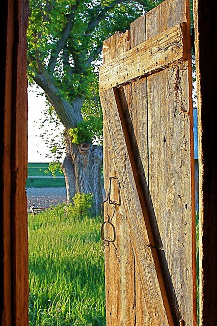 Img48812 Open Barn Door At Sunset By Reedness Via Flickr Pure