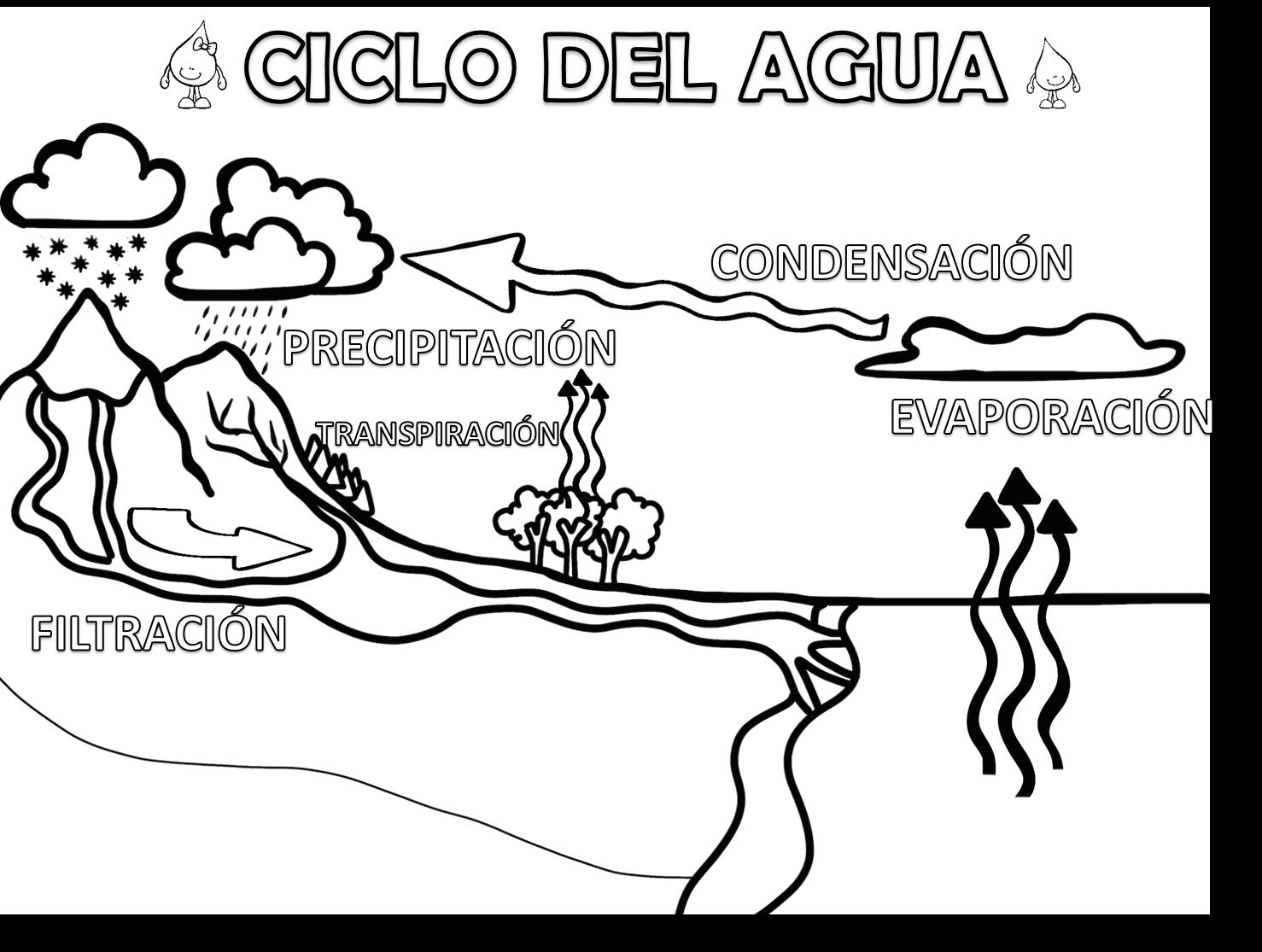 cicloagua | MATERIAL EDUCATIVO | Pinterest | Ciclo del agua ...