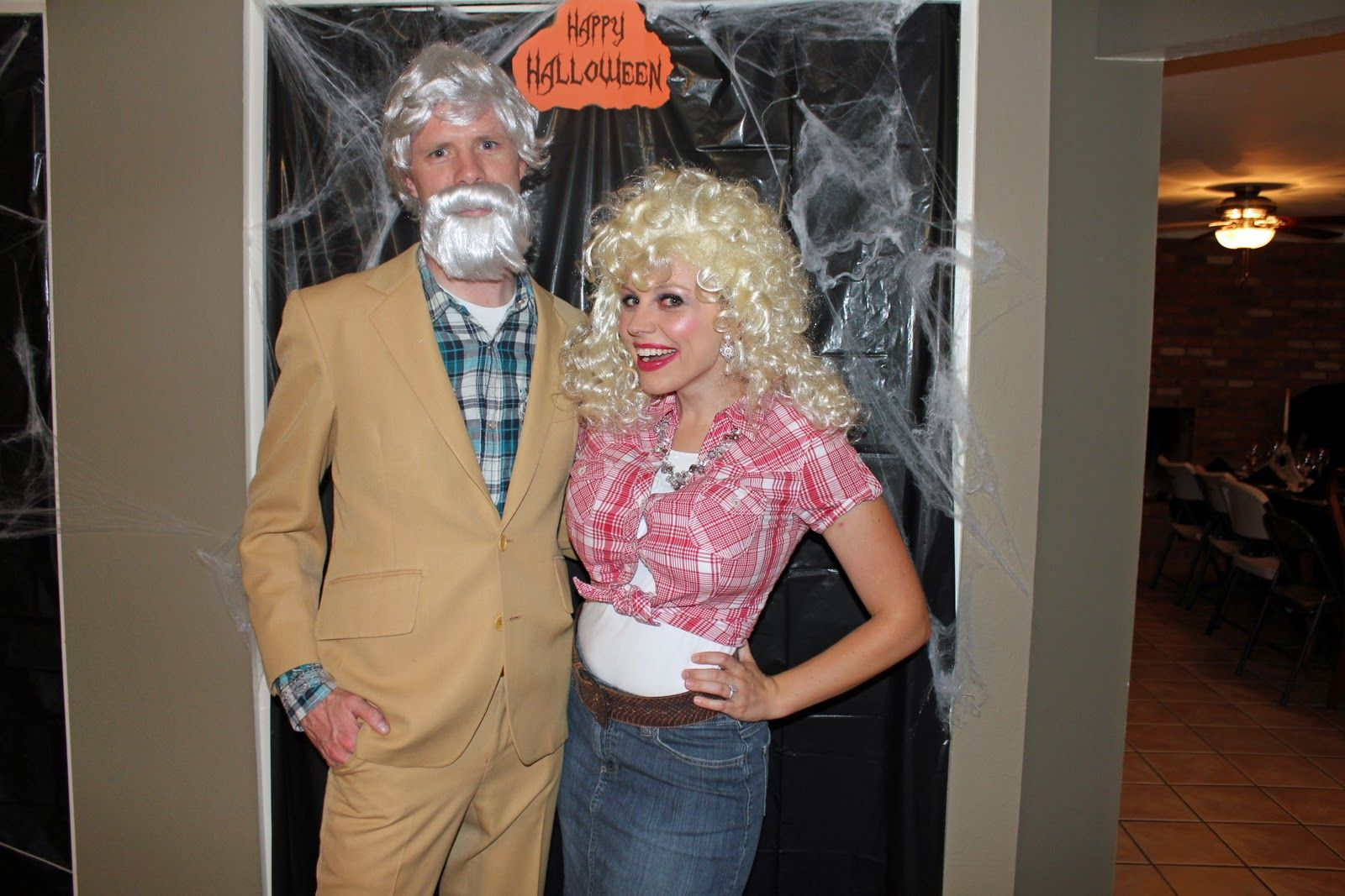 kenny rogers and dolly parton Couple halloween costumes